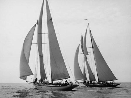 Sailboats Race during Yacht Club Cruise by Edwin Levick art print