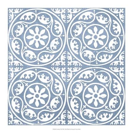 Chambray Tile VIII by Vision Studio art print