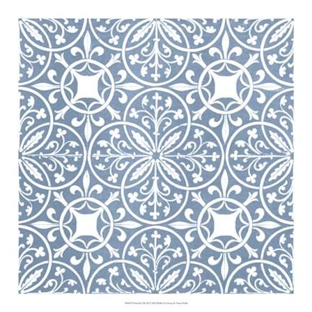 Chambray Tile IX by Vision Studio art print