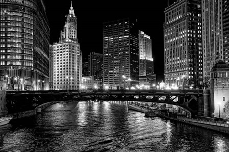 Chicago River by Jeff Lewis art print