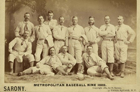 Metro Baseball by Vintage Apple Collection art print