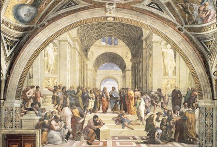 School of Athens by Raphael art print