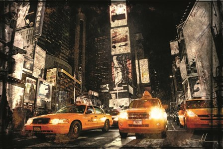 Times Square Taxis by Dale MacMillan art print